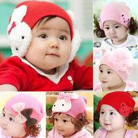 2016 Winter Baby Girl Toddler Infant Children Cotton Soft Cute Hat Cap Beanie