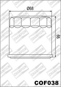 COF038-Filtro-De-Aceite-CHAMPION-Kymco-ATV-450-MXU-i-Maxxer-450-2011-2012-2013