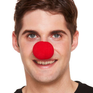 Red-Sponge-Nose-Clown-Circus-Joke-Fancy-Dress-Costume-Accessory-Comic-Relief