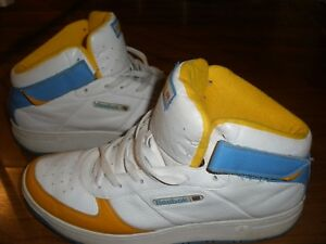 39525d1eb0d Image is loading Vintage-reebok-multi-color-high-top-sneakers-11-