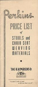 HH-Perkins-Co-New-Haven-Connecticut-CT-Vintage-Catalog-Seat-Weaving-Materials