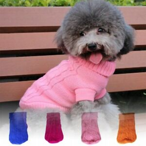 Pet-Dog-Puppy-Warm-Jumper-Sweater-Clothes-Puppy-Cat-Knitwear-Knitted-Winter-Coat