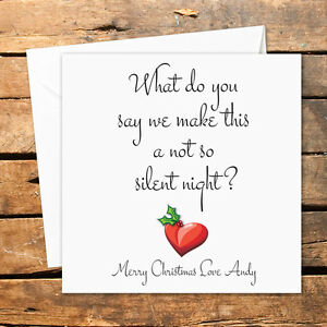 Details about Personalised Handmade Christmas Card No Silent Night Sex  Funny Joke Adult Humour