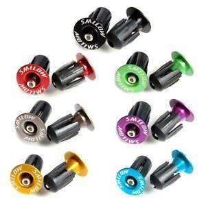 1 Pairs Aluminum alloy Bike Grips Bar End Caps Plug Bicycle Road Handle Q2U7