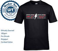 AC/DC Tribute T Shirt. Guitar Chord Boxes New Short Sleeve Top S - XXL