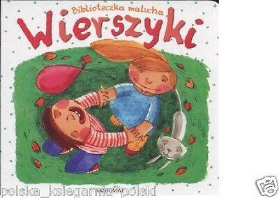 BIBLIOTECZKA MALUCHA: WIERSZYKI dla dzieci KARTONOWE polska ksiegarnia *JBook