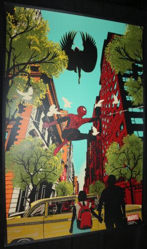 Spider-Man vs Raid71 Screen Printed Poster EX the Vulture Chris Thornley