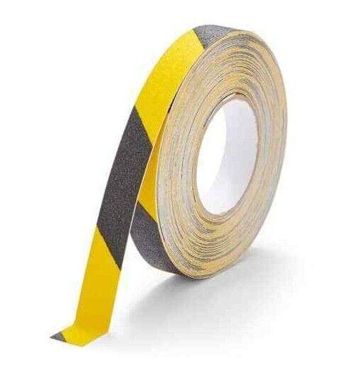 10 Metre roll 25mm Anti Slip Adhesive Tape Hazard Warning Safety Grip Grit