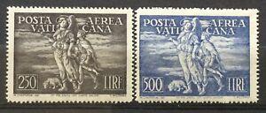 Vaticano-1948-posta-aerea-Tobia-serie-completa-mlh-RRR