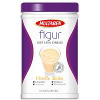 15,49€/kg Multaben Figur Eiweiß Diät Shake 3x430g 45% Whey Protein Molken L Carb