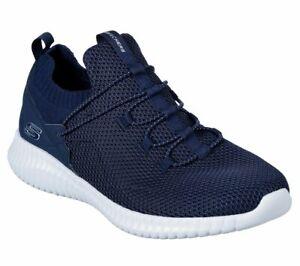 Skechers-Navy-shoes-Men-039-s-Memory-Foam-Soft-Mesh-Sport-Comfort-Flex-Slip-On-52527