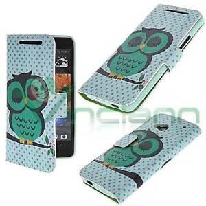 Custodia-booklet-GUFO-VERDE-per-HTC-One-M7-cover-STAND-tasche-carte-case-nuova
