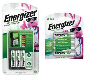 Energizer-Aufladen-Wert-Ladegeraet-mit-4-AA-und-8-AA-Akkus-NEU