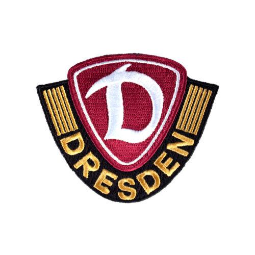 SG Dynamo Dresden Aufnäher Logo farbig Aufnäher Patch Label Aufbügler Bügelbild