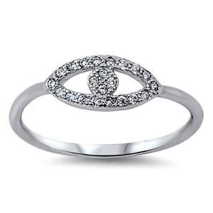 All-Seeing-Eye-Ring-Sterling-Silber-925-Best-Schmuck-Gesicht-Hoehe-6-mm-Groesse-9