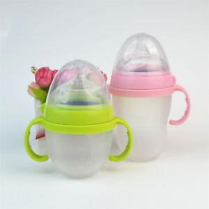 5Pcs Anti-slip Kids Baby Bottle Handle Grip Feeding Bottle For Comotomo Bottle