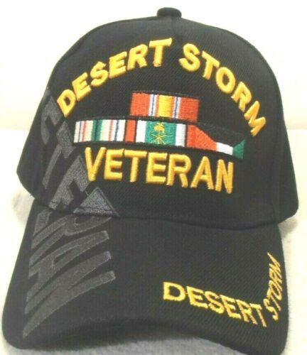 MILITARY CAP Desert Storm vétéran chapeau noir avec Ombre