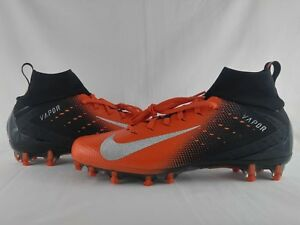 5d92126e811d Nike Vapor Untouchable Pro 3 Football Cleat Black Orange Mens Size ...