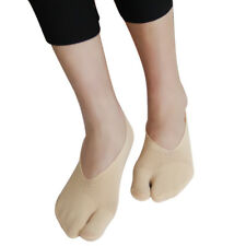 f835b9af933 2Pairs Skintone No Show Running Split Two Toe Socks for Women Ladies Girls