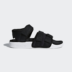 Image is loading New-Adidas-Original-Womens-ADILETTE-SANDAL-AC8583-BLACK- 8718cbade