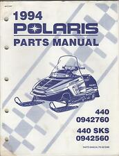 1994 POLARIS SNOWMOBILE 440 & 440 SKS P/N 9912495 PARTS MANUAL (951)