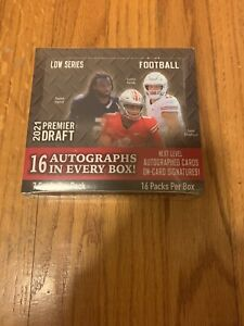 2021 Sage Hit Low Football Series 1 Factory Sealed Hobby Box 16 Autos Per Box🔥