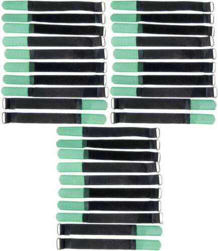 30 x câble Velcro Velcro 160 x 16 mm Foncé Vert Velcro Serre-câbles Velcro Bandes
