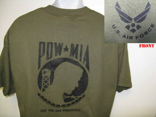 MILITARY// NEW AIR FORCE T-SHIRT// POW MIA T-SHIRT// VETERAN