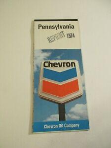 Stamped-Vintage-1974-Chevron-Pennsylvania-Road-Map-Box-G4