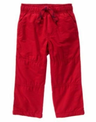 GYMBOREE HOLIDAY RED GYMSTER FLEECE LINED ATHLETIC PANTS 18-24 2 2T 3 4 4T 5 NWT