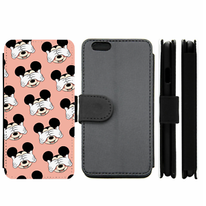 Mickey-Mouse-Pattern-Disney-Wallet-Phone-Case-For-iPhone-Samsung-8-9-10