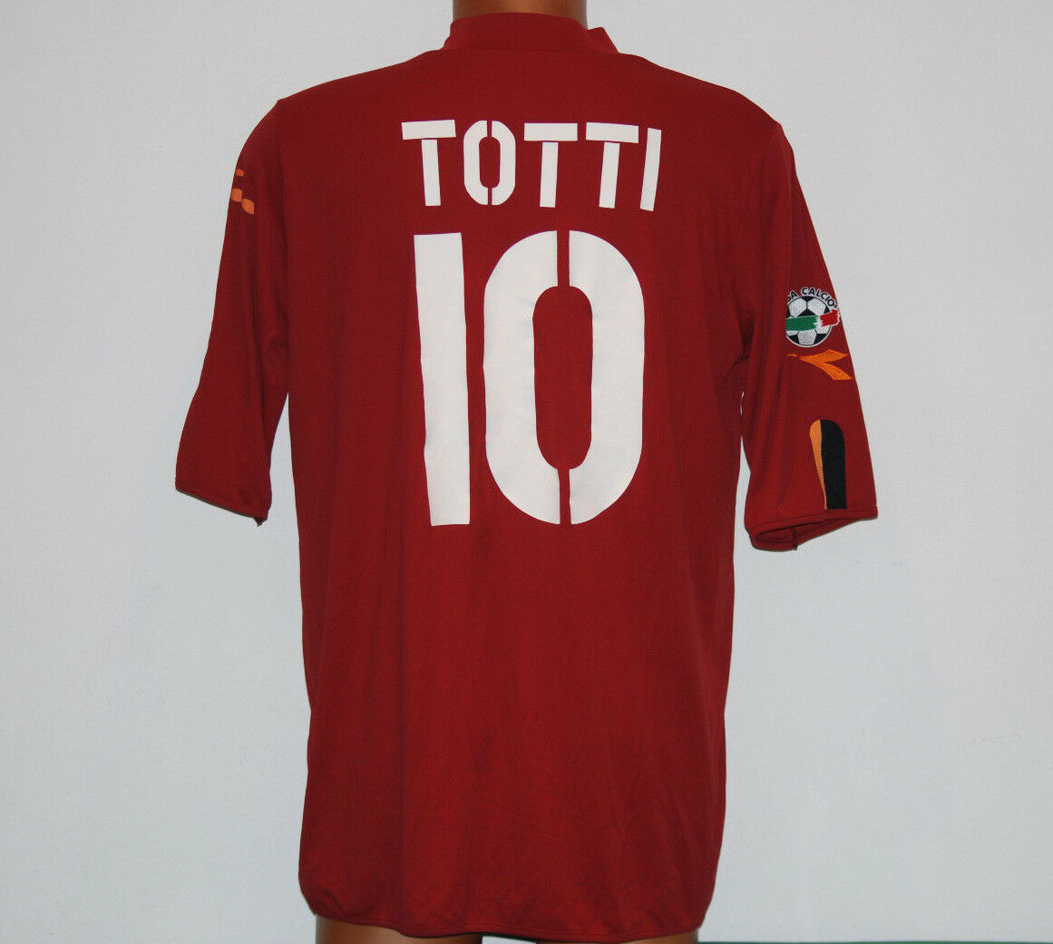 Maglia roma totti 2003 2004 diadora mazda Home Jersey shirt XL Lega Calcio