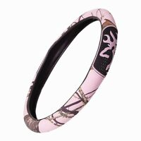 Pink Browning Camouflage Grip Steering Wheel Cover - Camo Auto