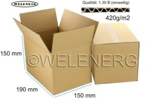 100x-190x150x150-mm-Kartons-Faltkartons-Faltschachteln-Versandkarton-Postkarton