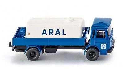 """#080899 - Wiking Camion Con Petroliera (man) """"aral"""" - 1:87-mostra Il Titolo Originale"""