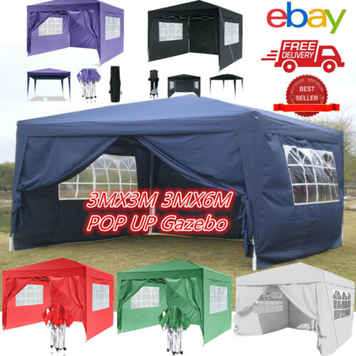 3x3 3X6 Auto Pop Up Gazebo Waterproof Heavy Duty Event Shelter Outdoor Garden UK