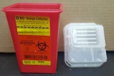Kendall Amp Bd Sharps Container Biohazard Needle Disposal Tattoo Dental 1qt 2gl