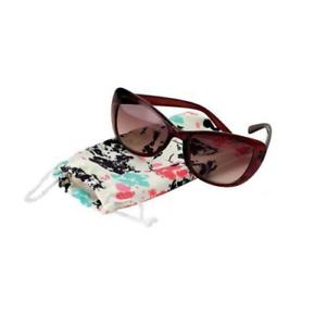Avon Occhiali Da Sole Donna Darcy ~ Marsupio Floreale ~ occhio di gatto ~ Marrone Scuro ~ filtro UV