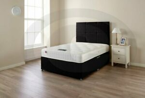 BRAND-NEW-BLACK-LINEN-MEMORY-DIVAN-BED-3FT-4FT-4FT-6-DOUBLE-5FT-6FT