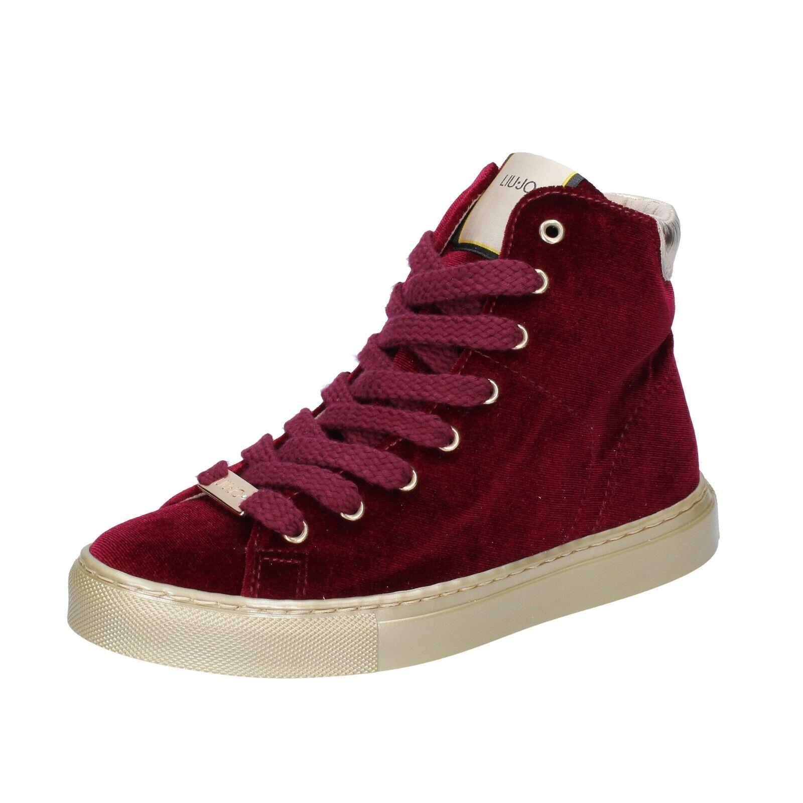 Chaussures femmes LIU JO 38 UE Baskets Bourgogne velours bs658-38