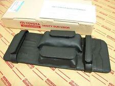 BLACK LEATHER VANITY SUN VISOR FOR TOYOTA HILUX SR5 MK6 MK7 VIGO CHAMP 2005-13