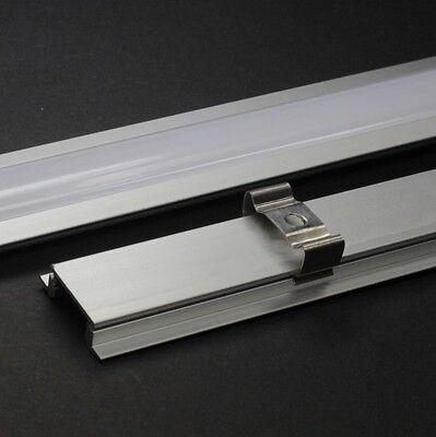 Alu Profil 1m & Abdeckung eloxiert Einbau LED Stripe Profile Schienen Aluminium