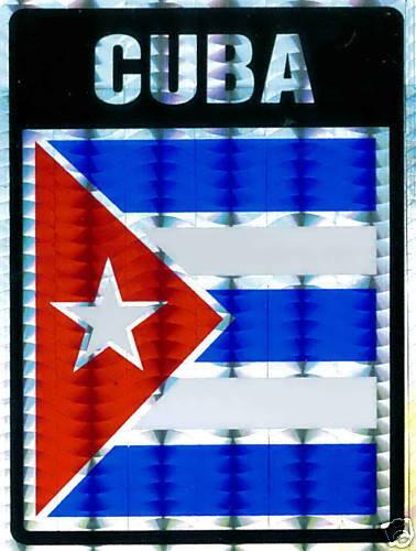 República de Cuba Large Flag Stickers LOT NEW Cuba