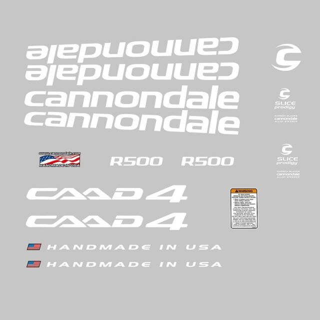 Cannondale CAAD5 Bicycle Decals White n.8 Transfers Stickers