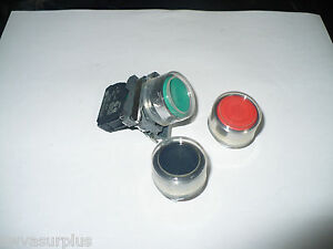 Schneider-ZBE-101-or-ZBE-102-Contact-Block-w-Green-Red-or-Black-Pushbutton-New