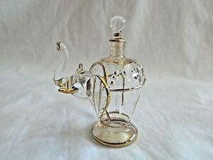 4d28c016 Image is loading Beautiful-Hand-Blown-Egyptian-Glass-Elephant-Perfume-Bottle -