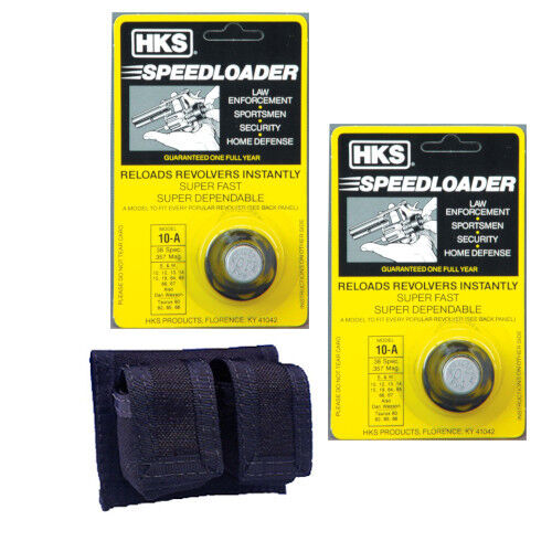 Hks 6-shot Cochegador Rápido Fits 357 And 38 S&W K-Frame Rossi 971 Taurus 10-a &