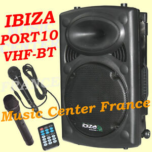 IBIZA-PORT-10-VHF-BT-enceinte-amplifiee-bluetooth-USB-SD-MP3-NEUF-G-2-ANS