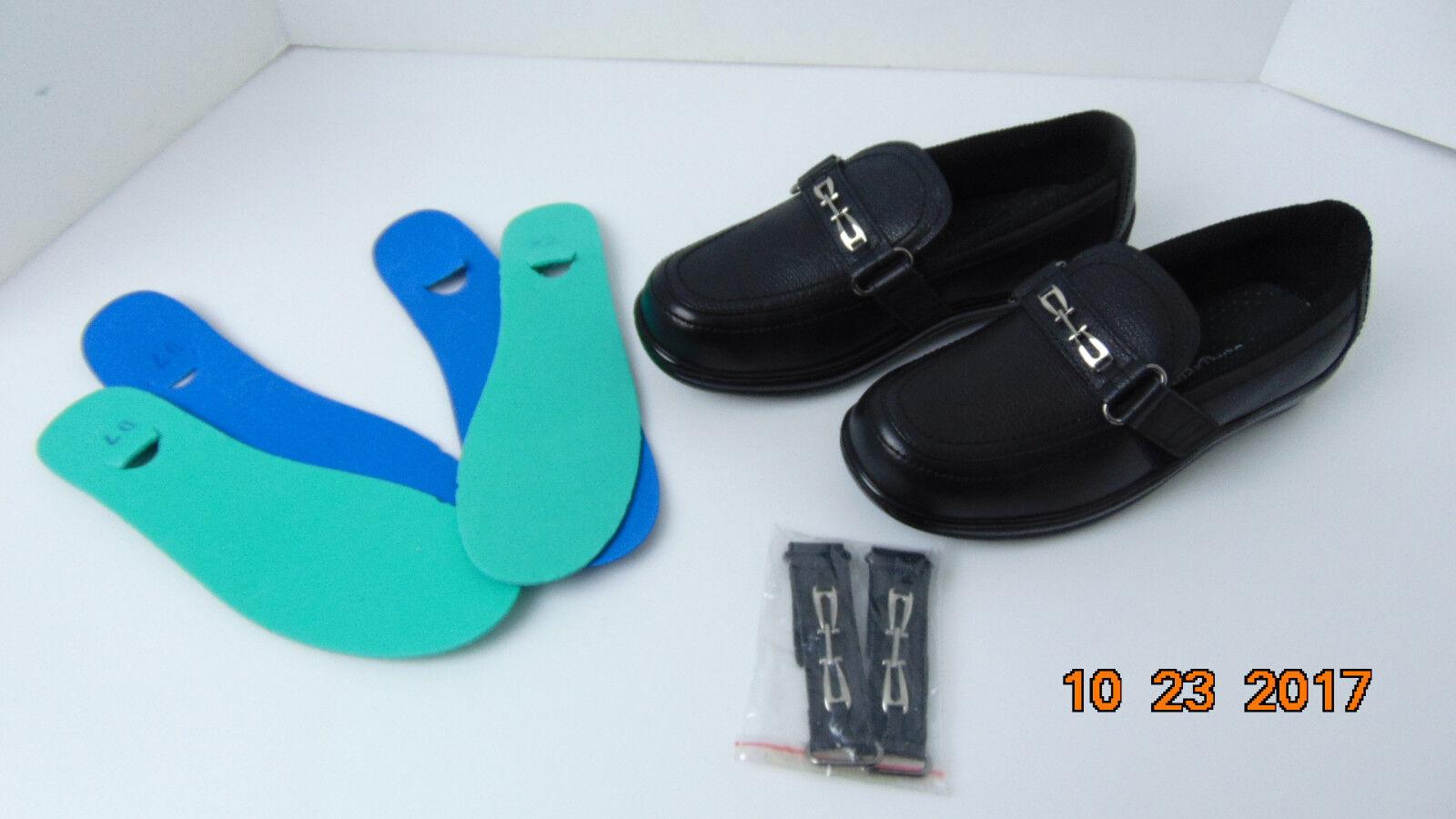 ORTH PIEDS FEMME chaussures en cuir Taille 7 D noir