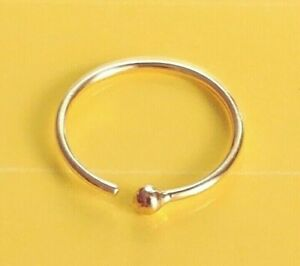 NUOVO-Orecchino-labbro-anello-al-naso-in-puro-585-oro-mare-intimo-Body-Piercing-Helix-Tragus-8-mm